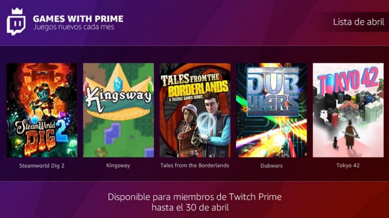 "Con Amazon Prime : Juegos ""Game with Prime"" de abril"